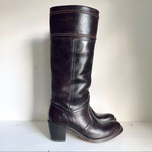 Frye Jane Espresso Brown 14' Tall Pull-On Boot